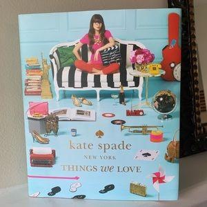 NWT KATE SPADE THINGS WE LOVE BOOK